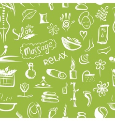 Massage and spa concept seamless pattern for your vector