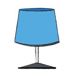 Blue lamp light electrical decoration vector