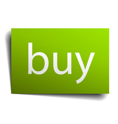 Buy green paper sign on white background vector