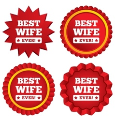 Best wife ever sign icon award symbol vector