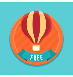 free badge vector image