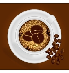 Cup of coffee with the sign vector