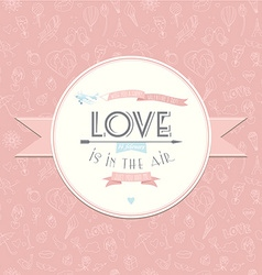 Greeting card with plane Festive Valentines Day vector image