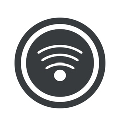 Round black wi-fi sign vector
