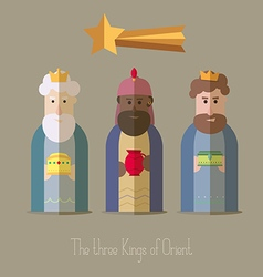 The three kings of orient wisemen 4 vector