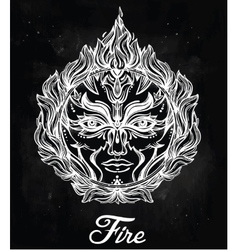 Beautiful romantic fire spirit symbol vector