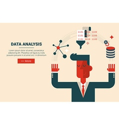 Data analysis research concept vector
