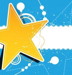 grunge star background design vector image