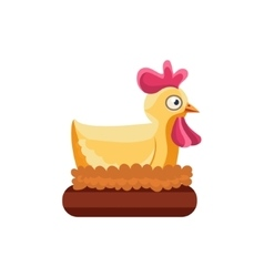 Chicken nesting simplified cute vector