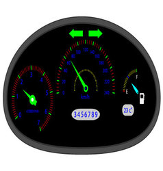 Car dashboard indicators vector image