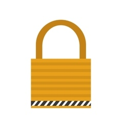 Yellow safety lock vector