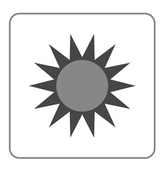 Sun icon symbol black sunrise isolated heat vector