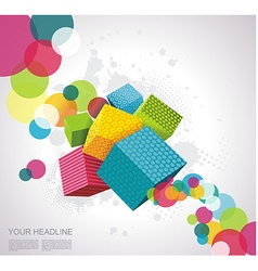 Abstract background with cubes vector