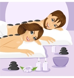 attractive young couple on a spa vector image vector image