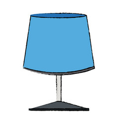 Blue lamp light electrical decoration vector