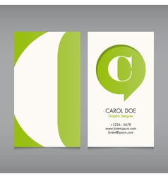 Business card template letter C vector image