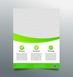 Business flyer template - simple sleek design vector image vector image