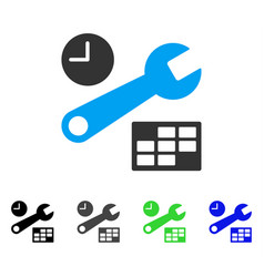 Date and time setup flat icon vector