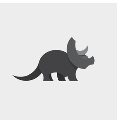 Dinosaur Triceratops Animals Design vector image