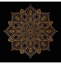 Ethnic decorative round gold mandala vector