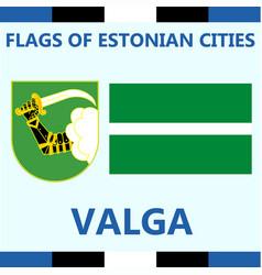 Flag of estonian city valga vector