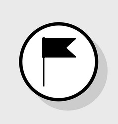 Flag sign flat black icon in vector