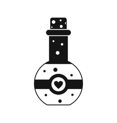 Flask of love elixir icon simple style vector
