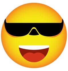 Glasses face smile vector