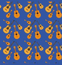 guitars pattern in dark blue background vector image vector image