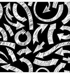 hand drawn arrows vector image