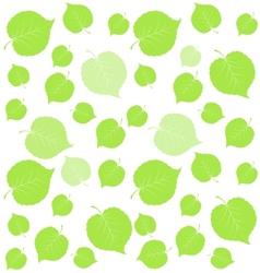 Leaf green background vector image