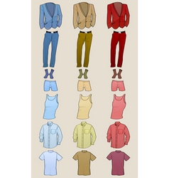 male clothing vector image