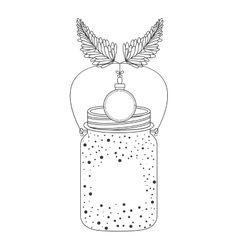 Mason jar with icon inside vector
