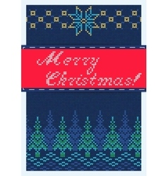 Merry christmas Retro vector image