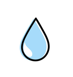 natural water drop to environment care vector image vector image