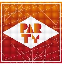 Party advertising card design vector