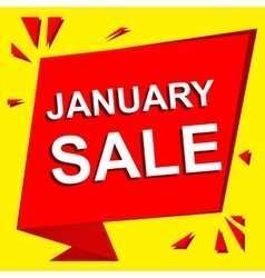 Sale poster with january sale text advertising vector