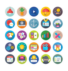 Seo and digital marketing icons 6 vector