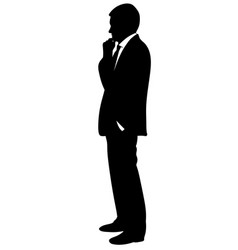 silhouette of a man in a business suit vector image