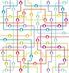 Social network internet chat community vector image