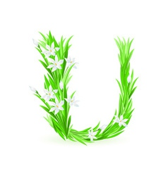 spring flowers alphabet u vector image vector image