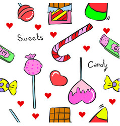 Sweet candy in doodle style vector