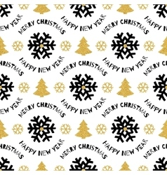 Trendy xmas seamless pattern merry christmas and vector
