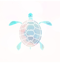 Sea turtle silhouette vector