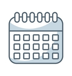 Calendar reminder flat line icon vector