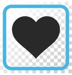 Love heart icon in a frame vector