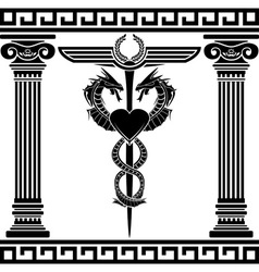 Fantasy medical symbol stencil vector