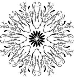 Outline floral mandala circular ornament vector