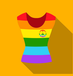 dress icon flat single gay icon from the big vector image