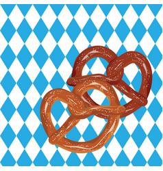 Tasty cartoon pretzel vector
